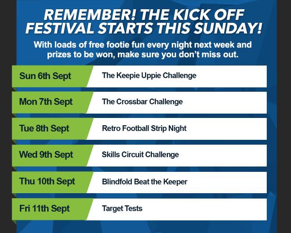 List of Kick Off Festival Activites