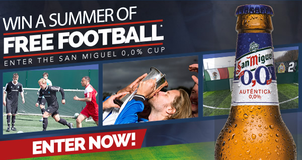 Win A Summer Of Free Football - Kicks Off 31st May - Enter Now